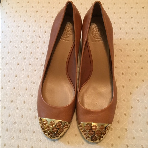 b40a375be37dc Tory Burch Sally 2 Leather Wedge Pump