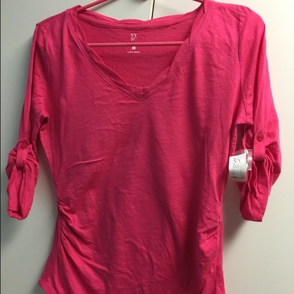 48% off New York & Company Tops - Hot pink shirt by New York and ...