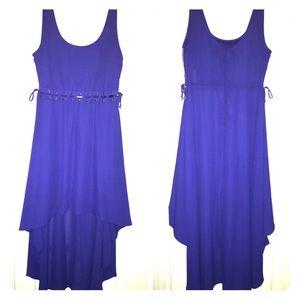 Material girl high-low dress