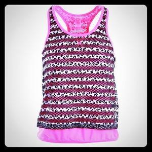 Juicy Couture Tops - Juicy Couture Sport B/W Mesh Striped Tank Top M