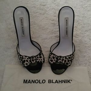 Pony hair Manolo's 38 eu fit 7.5/8 retail $658