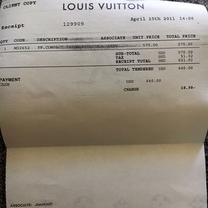 Louis Vuitton Accessories - Authentic LV Wallet