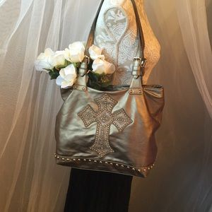 Handbags - Bronze/Gold Shoulder Bag