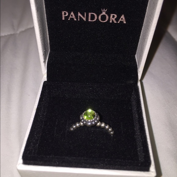 cdea4e151 Pandora Birthday Blooms ring in peridot (size 5). M_5785db0b9818297bf00357ee