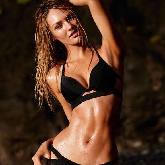 321b1cc65928d Victoria's Secret Swim | Black Banded Hottie Halter Padded Vs Top ...
