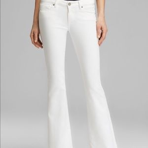 Paige Skyline Boot Cut Petite White Denim—Size 27
