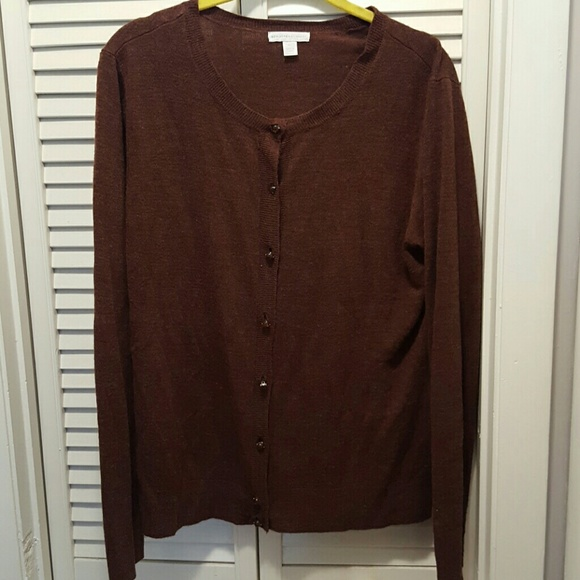 New York & Company - Brown button up cardigan from New York and ...