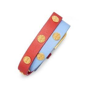 Tory Burch Jewelry - ✨NWT✨ Tory Burch Double Wrap Logo Leather Bracelet