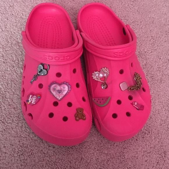Pink Crocs Includes Charms | Poshmark