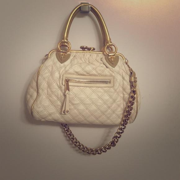 c342cfada92 Marc Jacobs Bags | Handbag White Leather Gold Chain | Poshmark