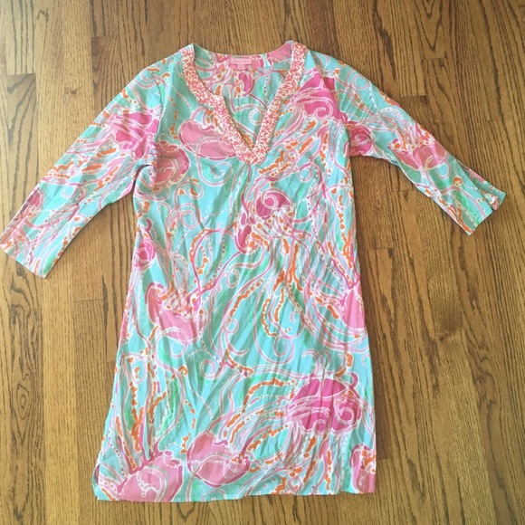 65d553f51d8dae Lilly Pulitzer Dresses & Skirts - Lilly Pulitzer Jellies Be Jamming Tunic  Dress