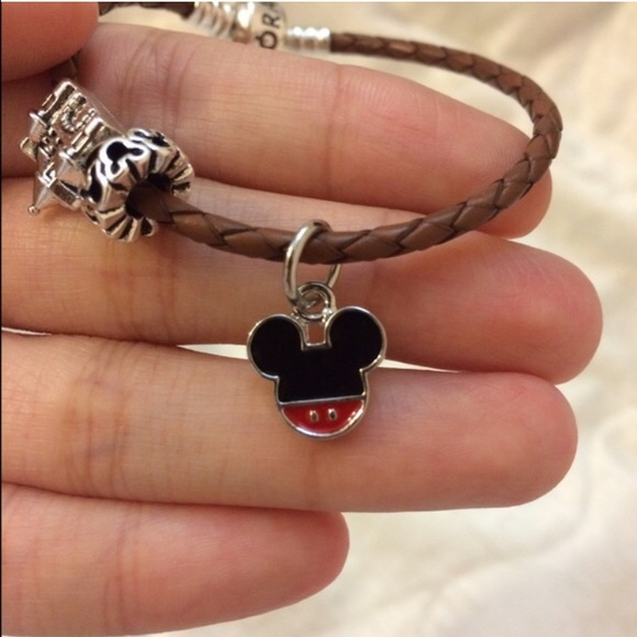 Mickey Mouse Charm Bracelet: Disney Mickey Mouse Charm ♡ From Lichi's Closet