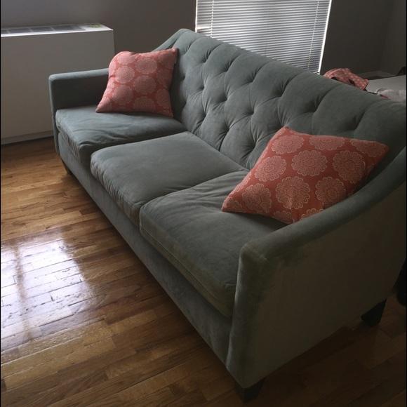 Astounding Macys Light Blue Tufted Sofa Machost Co Dining Chair Design Ideas Machostcouk