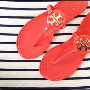 Tory burch jelly Miller sandals