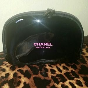 CHANEL Handbags - Chanel black makeup bag