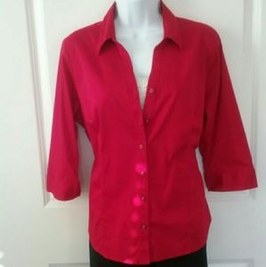 212 Collection Tops - Crimson Blouse