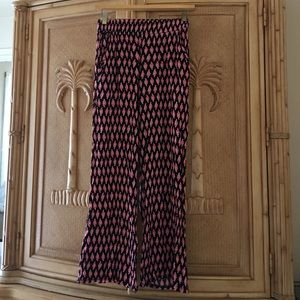 Pants - Abstract Print Palazzo Pants