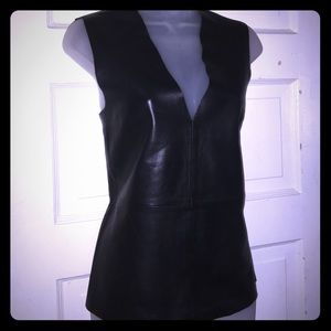 Kate Spade Saturday Lamb Leather Pull Over Vest