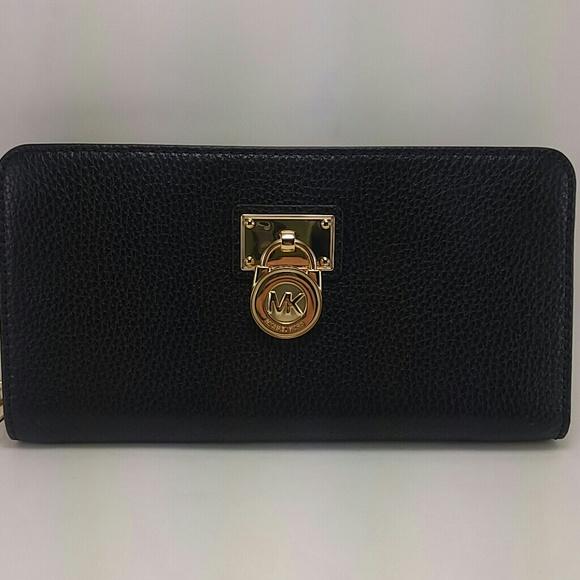 michael kors black hamilton wallet