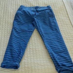 Striped broken in khakis cropped pants