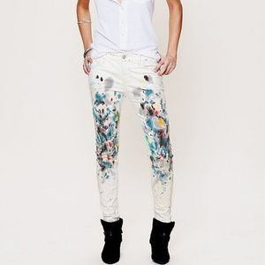 Free People Denim - Free people painted skinny cord