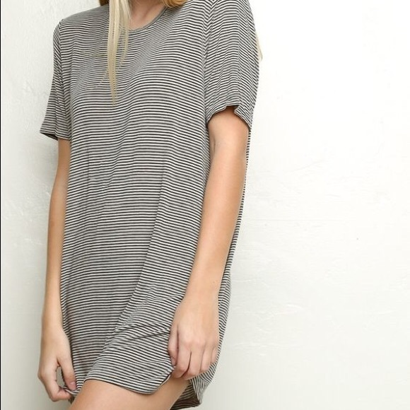 5b9cc21fc8ed Brandy Melville Dresses & Skirts - Brandy Melville Luna striped t shirt  dress