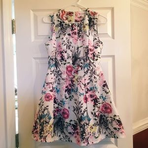 A cute, floral skater dress by L'atiste!