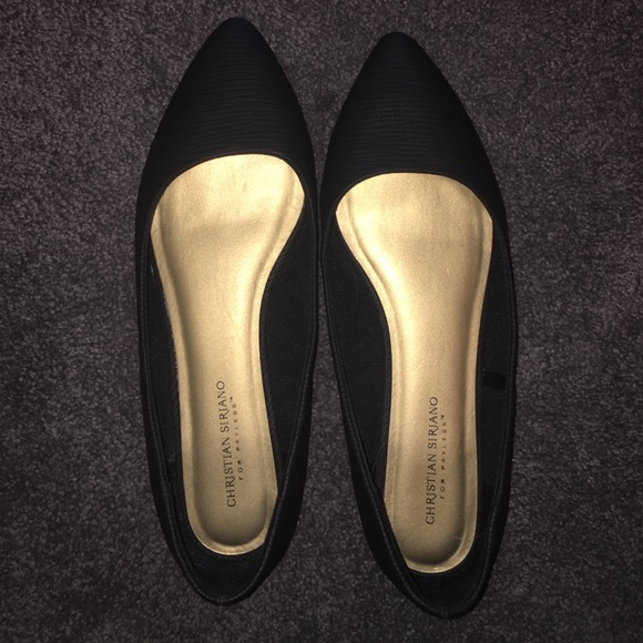bf8a4d9d5145 Christian Siriano Shoes - Black pointed toe flats loafers