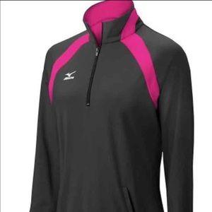Mizuno Tops - Mizuno Pink and Black Half Zip Top Shirt XS NWT