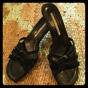 Donald J. Pliner Shoes - Cute black mules with tiny bows. 🎉