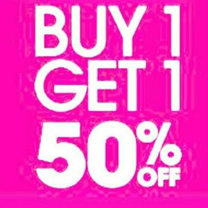 Other - Buy one get one half off sale!