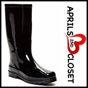 ❗️1-HOUR SALE❗️RAIN BOOTS Black Patent Tall