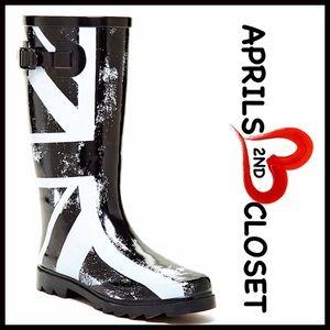 Boutique Shoes - ❗️1-HOUR SALE❗️RAIN BOOTS Tall Rain British Flag