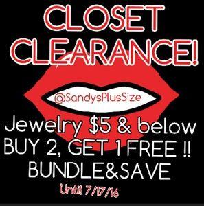 CLOSET CLEARANCE!!! Necklace, Rings, Bracelets