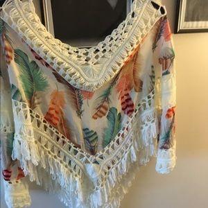 Love Culture Tops - Sexy Gypsy boho crochet tunic top.... 💄💄💋💋❤️❤️
