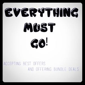 Everything must go! 2 MORE DAYS ONLY!!