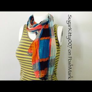 Accessories - Large Crinkle Scarf Cotton
