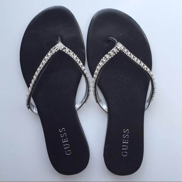 86fa55fd9 Guess Shoes - ⋆Guess⋆ Rhinestone Flip flops