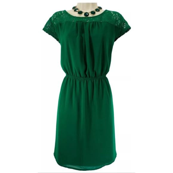 One Clothing Los Angeles Dresses Size 1x Nwt Green Blouson Dress