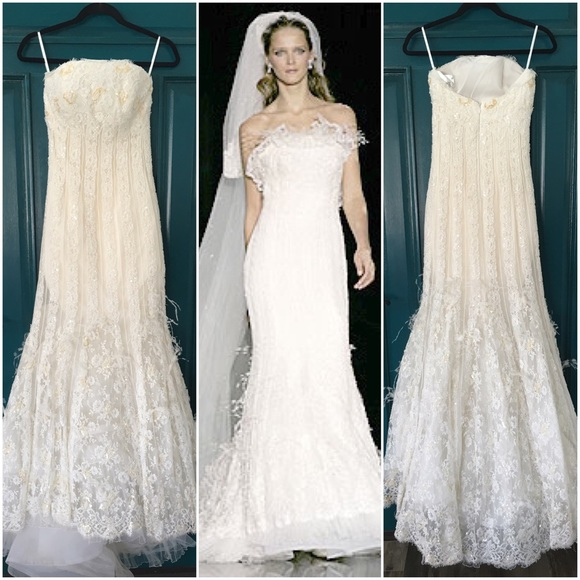 AVAILABLE Manuel Mota Pronovias Wedding Dress S 4