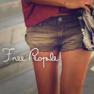 Free People Army Shorts