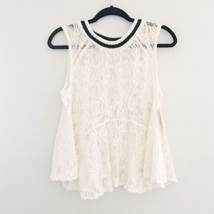 Free people Maisie lace tank