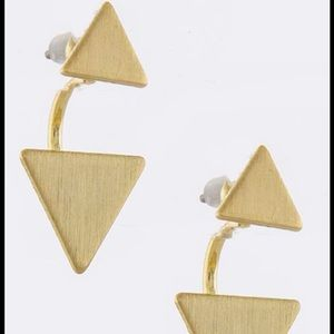 Jewelry - Gold Triangle Ear Jacket