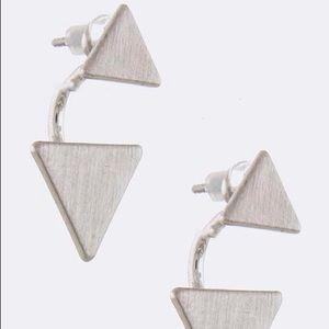 Silver Triangle Ear Jacket