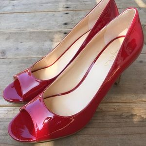Cole Haan peep toe pumps