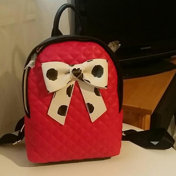 659990a628 Betsey Johnson mini backpack. M 5786ba97c284568cf6000cd4
