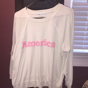 Wildfox America sweater, gently used.