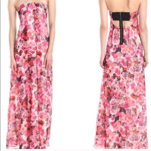 Sam Edelman floral strapless maxi