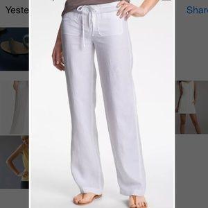 7d69e50948 Vince Pants - Vince white linen drawstring beach pants