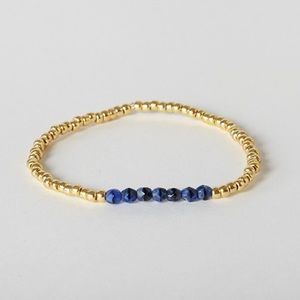 Jewelry - NEW Lapis Blue and Gold Beaded Bracelet